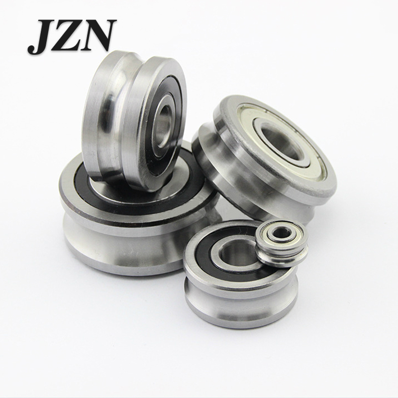Free Shipping 2PCS Z10 U-groove Track Ball Guide Roller Bearing LFR5201-10 NPP KDD 12 * 35 * 16mm