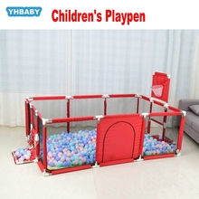 Baby Folding Bed Fence Kids Playpen Ball Pool 0-6 Years Children's Playpen Oxford Cloth Pool Balls Child Fence