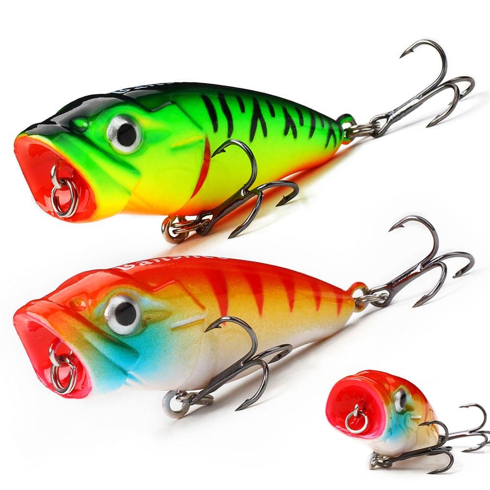 Banshee 45mm 3.3g Mini Popper Fishing Lure Hard Bait Artificial Poper Topwater Bass Trout Pike Fishing Crankbait Crank Wobbler