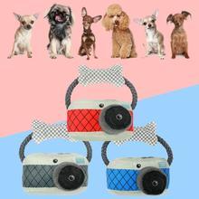 Ошейник для собаки, кошки, веревка, узел, плюшевая камера, игрушка для питомца, поводок для питомца, ожерелье, интерактивные игрушки для собак, жевательные игрушки для домашних животных