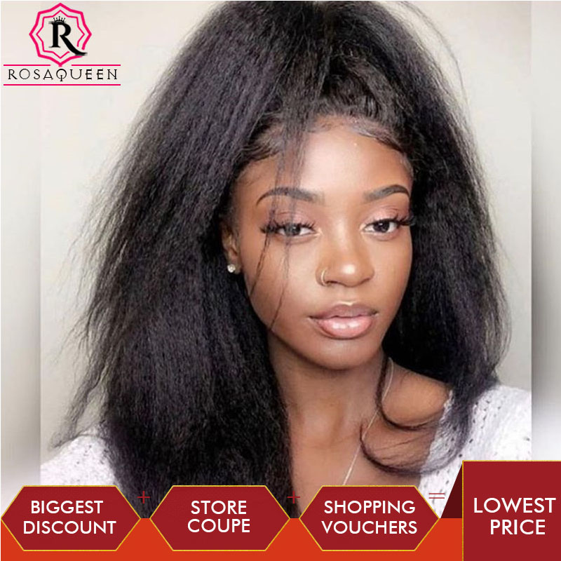 Kinky Straight Ponytail For Women Natural Blck Clip In Ponytails Hair Extension Coarse Yaki Remy Hair Remy Human Hair Rosa Queen