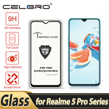 Tempered Glass for Realme 5 Pro XT Q Screen Protector Full Cover Clear Protective Phone Glass Film for OPPO Realmi 5 Pro XT Film(China)