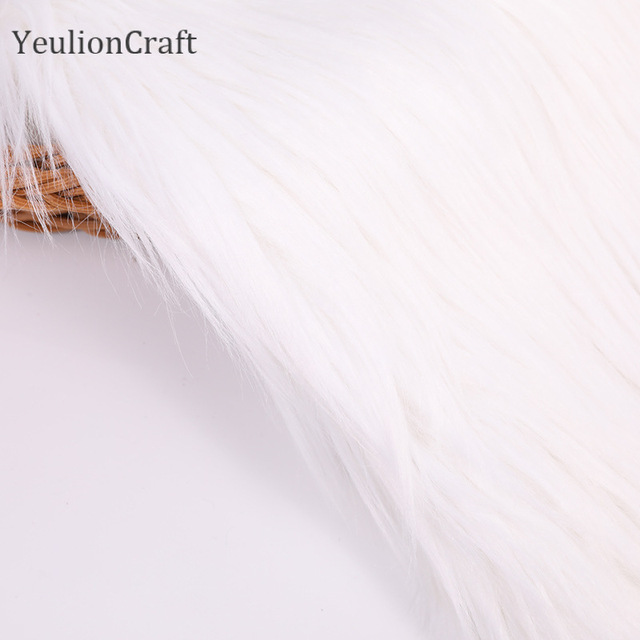Chzimade Long Rabbit Faux Fur Fabric 20x30/40x60cm For Patchwork Sewing Material Garment Diy Home Decoration 3