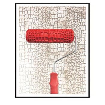 JEYL 7 дюймов тиснением крокодиловой кожи картина ролик с ручкой для украшения стен
