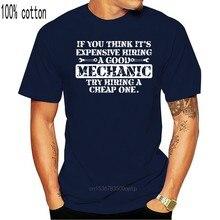 Mecânico caro para contratar bom mecânico t camisa humorístico designer clássico dos homens t camisas de manga curta famosa primavera roupas