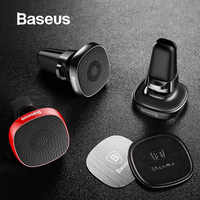 Baseus Metal Car Phone Holder For iPhone XR 8 Sumsung S10 Xiaomi Magnetic Phone Holder Air Vent Mount Mobile Phone Holder Stand