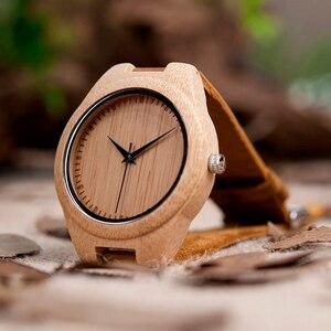 Image 4 - BOBO BIRD zegarki bambusowe dla mężczyzn kwarcowe męskie zegarki na rękę часы мужские montre homme męskie zegarki zegary Dropshipping