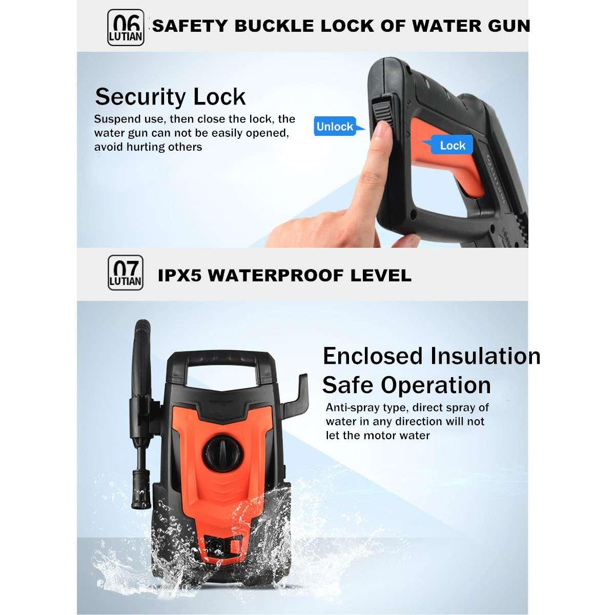Auto Washer Guns Pumpe Waschen Gerät Auto Sprayer Hochdruck Reiniger Waschen Maschine Elektrische Reinigung Auto Gerät - 4