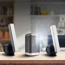 L2 wsparcie 4K kina domowego projektor 4500 lumenów z systemem android 1G + 8G Bluetooth głośnik HIFI DLP 3D LED Beamer projektor tanie tanio IMEGO Instrukcja Korekta Projektor cyfrowy 4 3 16 9 X 1 3 Brak 854x480 dpi 60-120 cali 2001 1-3000 1 Domu Tylnej Projekcji