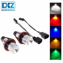 DXZ 2Pcs 5W 6500k LED Angle Eyes Halo Xenon Marker Ring Light Error No Bulb For BMW E39 E53 E60 E61 E63 E64 E65 E66 X5 40w xenon white headlight led marker angel eyes halo light bulb for bmw e87 e39 m5 e60 e61 e63 e64 m6 e65 e66 x3 e83 x5 e53