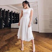 Новое Элегантное шифоновое пляжное свадебное платье на бретелях