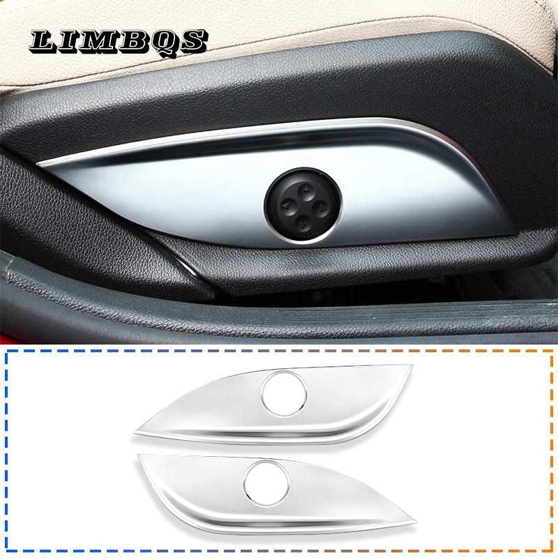 Chrome Seat Adjust Buttons Cover For W205 W212 W213 Mercedes Benz GLC CLS E C Class Seat Height Adjustment Button Panel Trim