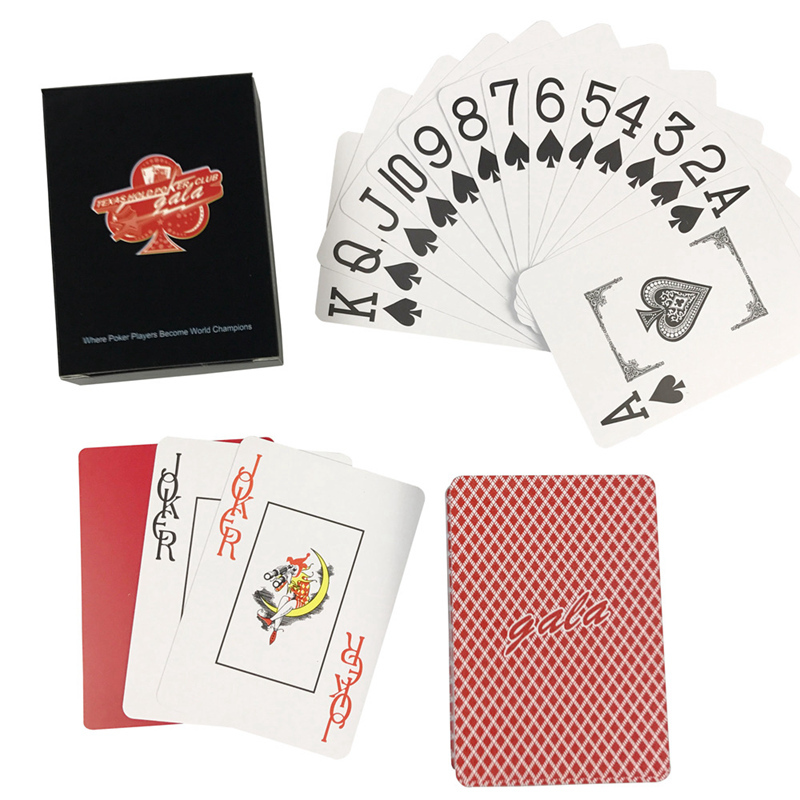 K8356 NEW GALA Baccarat PVC Plastic Waterproof Frosting Playing Cards Games 2.48*3.46 Inch Texas Hold'em Poker Cards Board Games