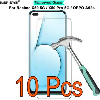 Перейти на Алиэкспресс и купить 10 шт./лот для Realme X50 / X50m / Pro / OPPO A92s 5G 9H твердость 2.5D Закаленное стекло Защитная пленка для экрана