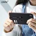 LIWM двойной адаптер и кольцо держатель 3 5 аудио и зарядное устройство отрегулируйте держатель телефона быстрое зарядное Освещение для iPhone X 7...