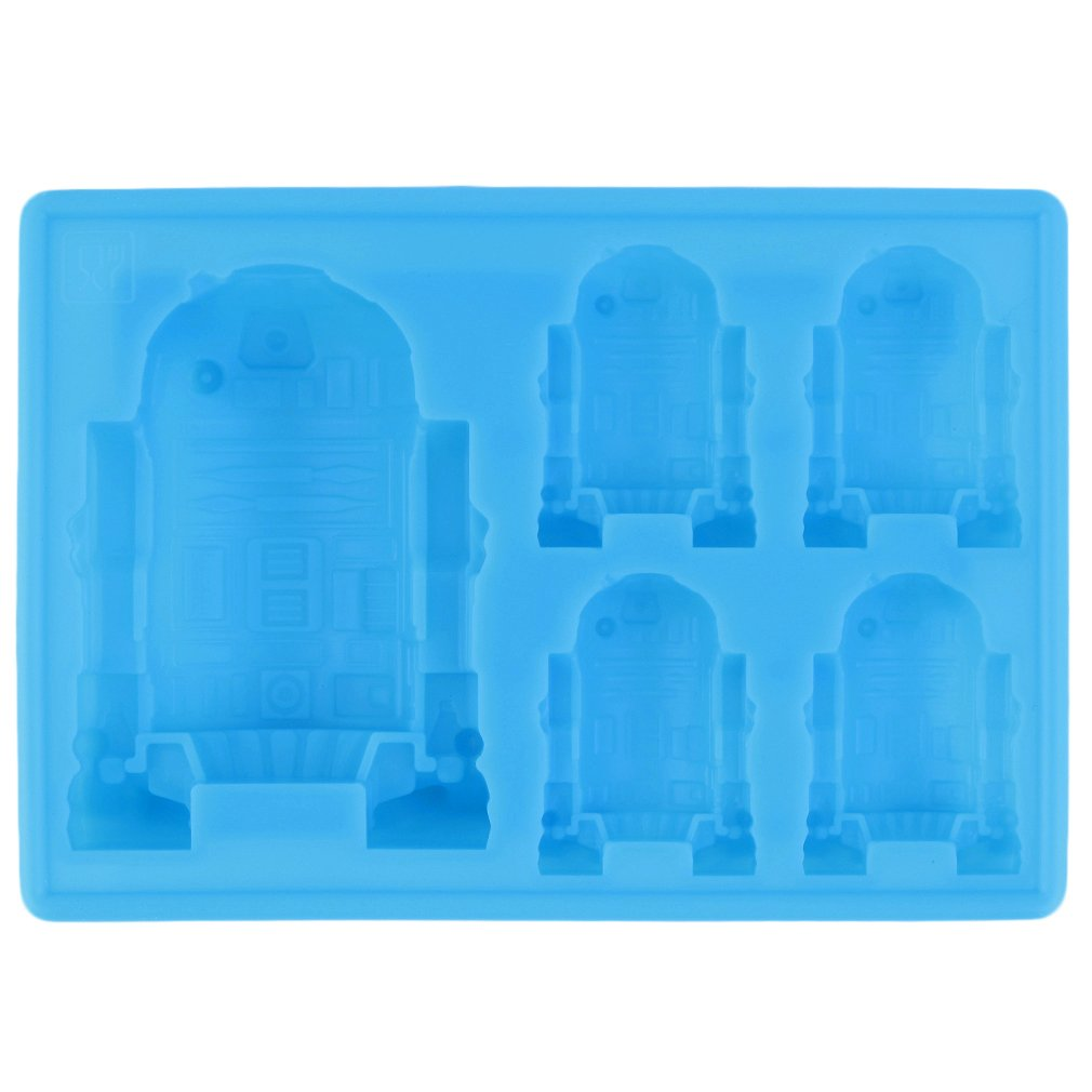 1pc Cute R2-D2 Ice Tray Silicone Mold Cube Chocolate Fondant Moulds Kitchen Cooking Tools for kid's parties
