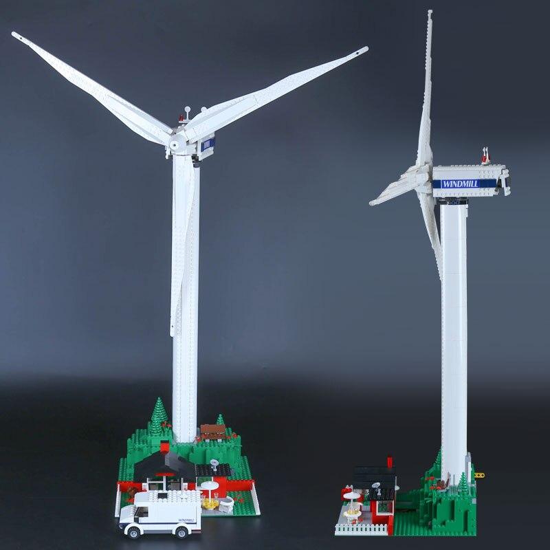 DHL 37004 ของเล่นสร้างสรรค์ 10268 กังหันลม windmill motor function Building Blocks อิฐเด็ก Technic ของเล่นคริสต์มาสของขวัญ-ใน บล็อก จาก ของเล่นและงานอดิเรก บน   3