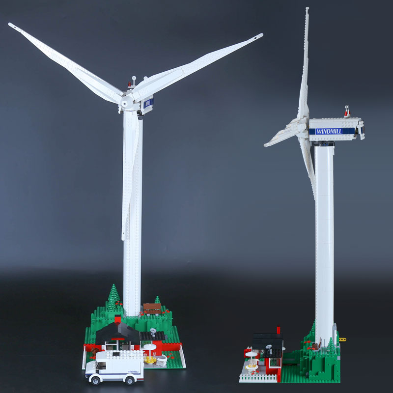 DHL 37004 Creatieve Speelgoed De 10268 windmolen turbine met motor functie Bouwstenen Bakstenen Kinderen Technic Speelgoed Kerstcadeaus-in Blokken van Speelgoed & Hobbies op  Groep 3