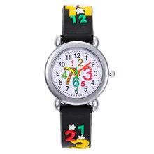 2020 Cartoon Number Children Watch Quartz Wristwatch For Girls Boy kids