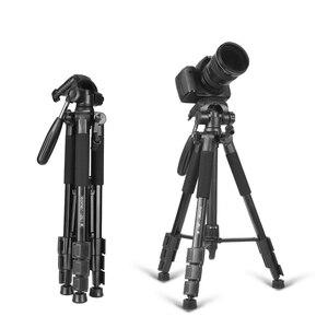 Портативный профессиональный трипод Zomei Z666, новый дорожный алюминиевый трипод для камеры, аксессуары, штатив с плоскоконической головкой д...