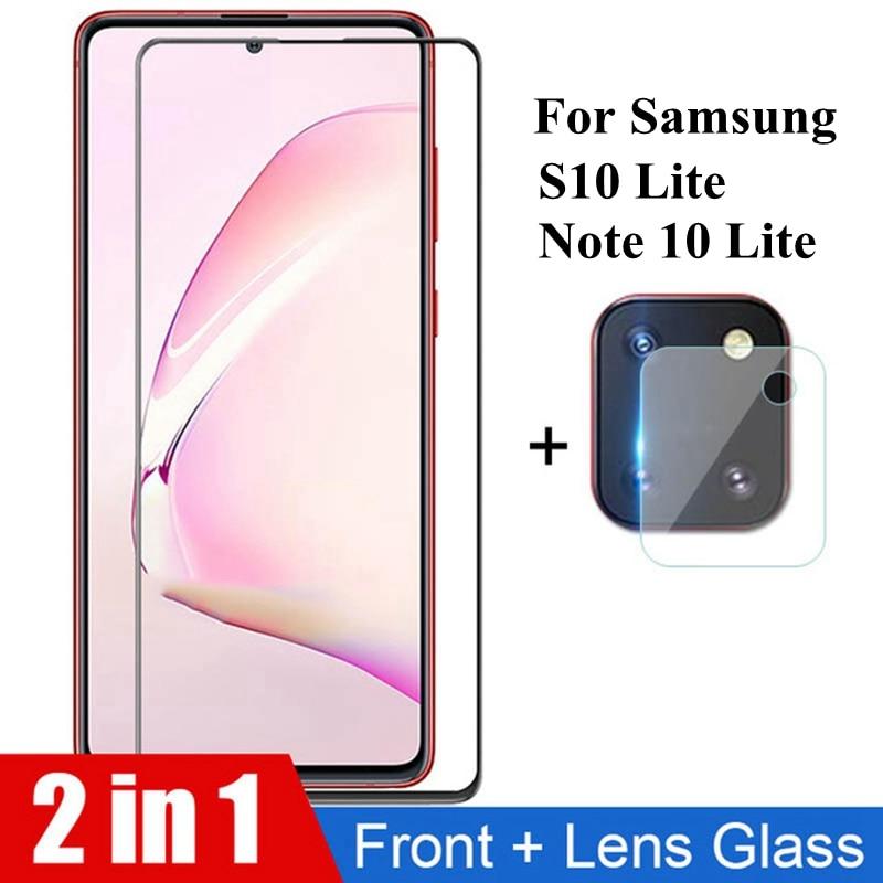 2 в 1 Защитное стекло для Samsung Galaxy Note 10 lite S10Lite S 10, защита экрана, объектив камеры для Samsung Note 10 S10 lite