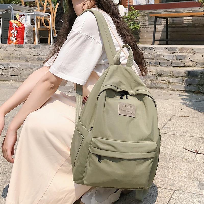 Female Vintage Backpack Cute Women School Bags For Teenage Girls Waterproof Nylon Kawaii Backpack Ladies Luxury Student Bag Book