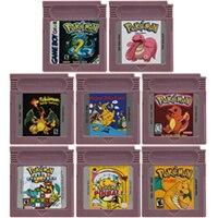 16 Bit wideo kartridż z grą karta konsoli dla Nintendo GBC Pokeon serii język angielski wersja drugiej edycji