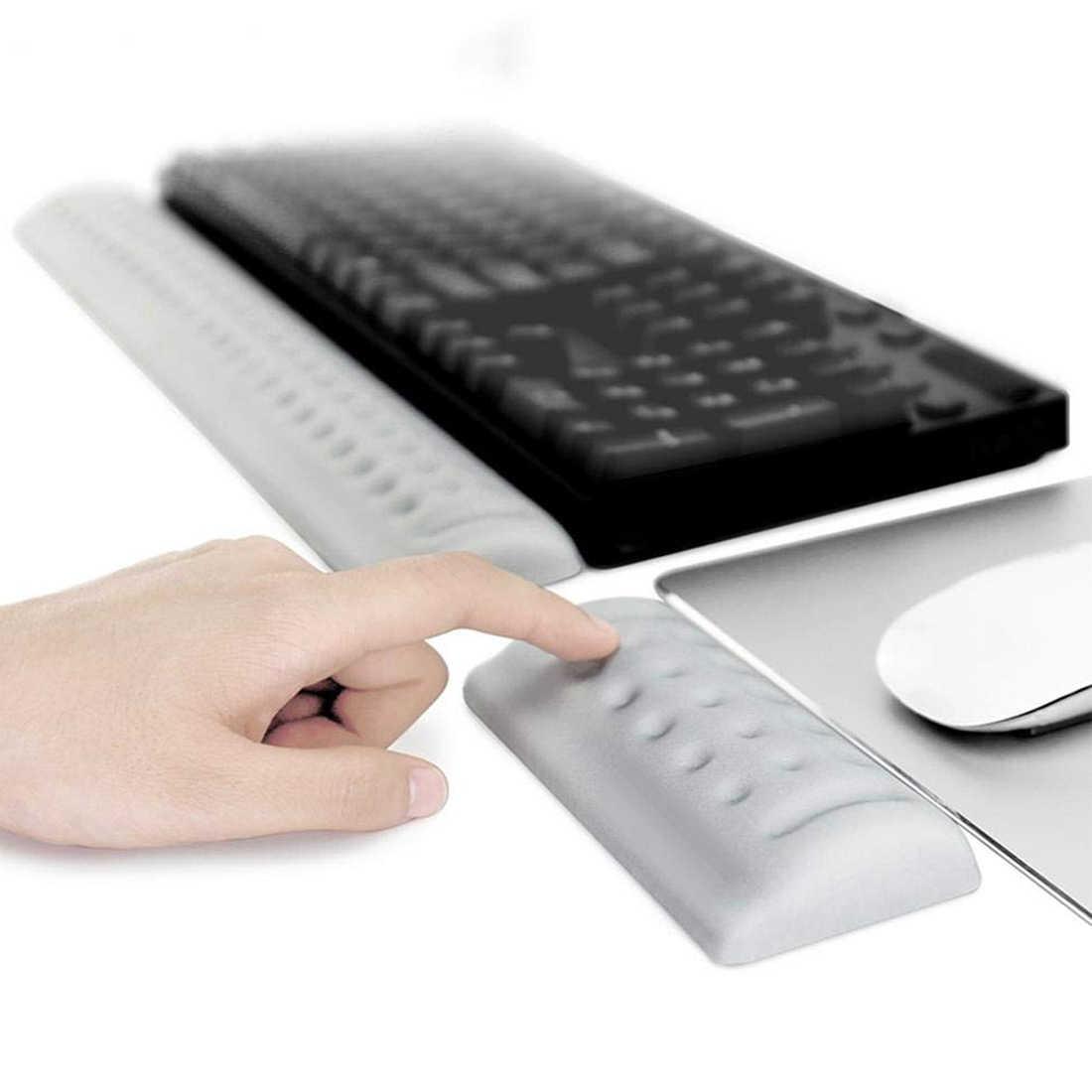 キーボードリストレストパッドマウスリストレストパッド人間工学低反発セットコンフォートパッドオフィスコンピュータのラップトップのための