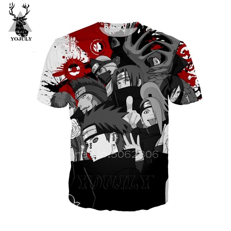 Hot Sale Naruto T Shirt Fashion Funny Men's T-Shirts Cool 3D Anime Uchiha Itachi Akatsuki Tee O-neck Short Sleeve Streetwear Top