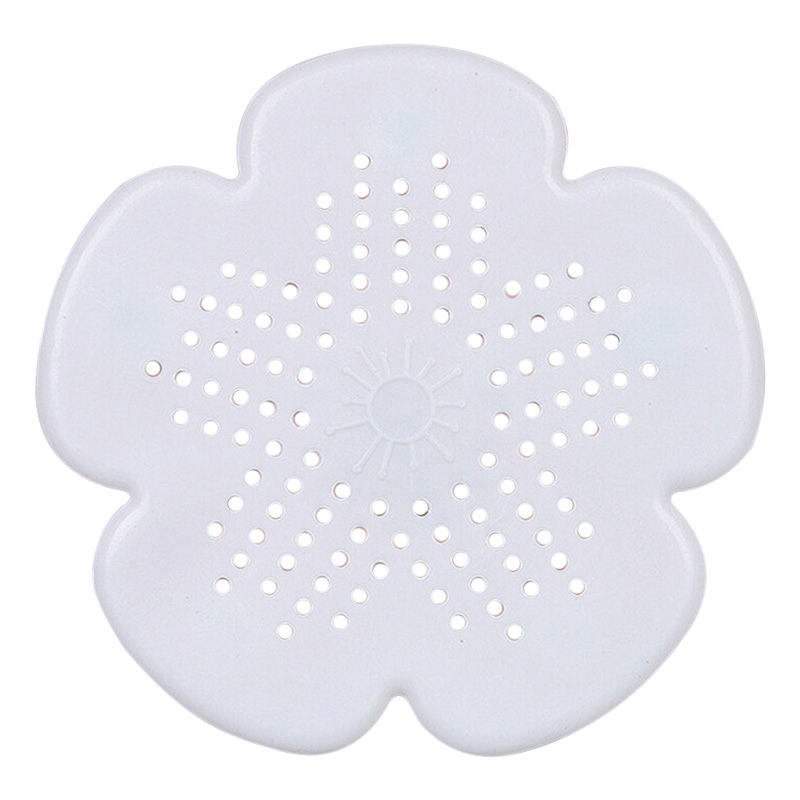 Cherry Blossom Sewer Drainage Filter Bathroom Sink Kitchen Plug Anti-blocking Sewage Covers Floor Covering Hair Filter White