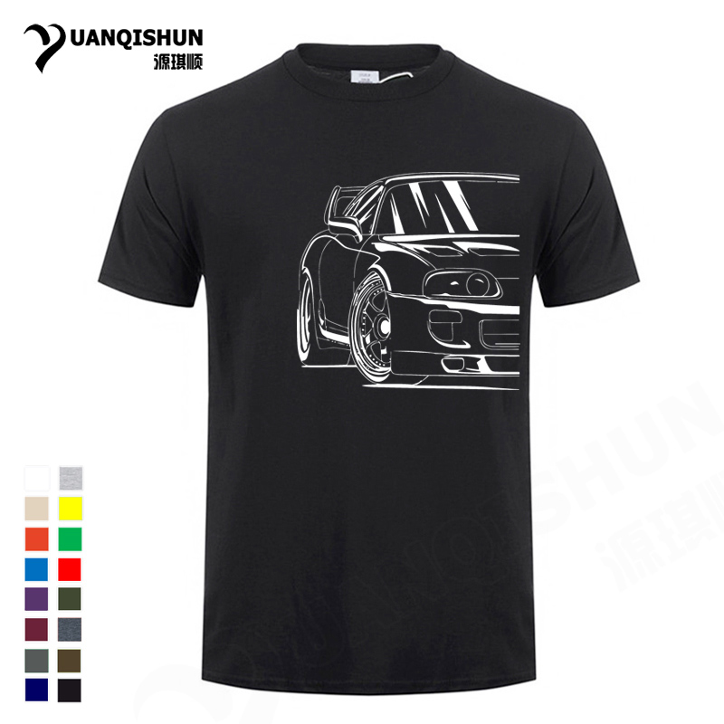 Best Supra 2JZ JDM T Shirt 16 Colors Fashion Harajuku Tee Shirt 100% Cotton Plus Size Sports Car T-shirt Streetwear Camiseta