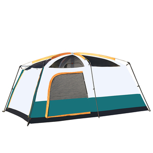 Image 2 - 5 10 Person Outdoor Camping Double Layer Tent Two Bedrooms Waterproof Big Space Family Tent