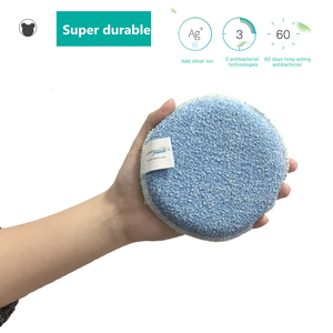 Image 1 - BEAR FAMILY Super Cleaning Brush Sponge Antibacterial Melamine Microfiber PVC Double sided Cleaning Sponges Scouring Pad Kitchen