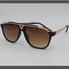 KAPELUS Metal sunglasses Brown tea sunglasses Anti-UV 400