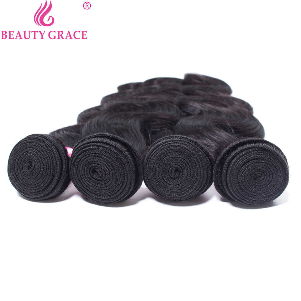 Beauty Grace Body Wave Bundels 100% Human Hair 2 4 Bundels Deals Braziliaanse Hair Weave Bundels Niet-Remy Haar extension