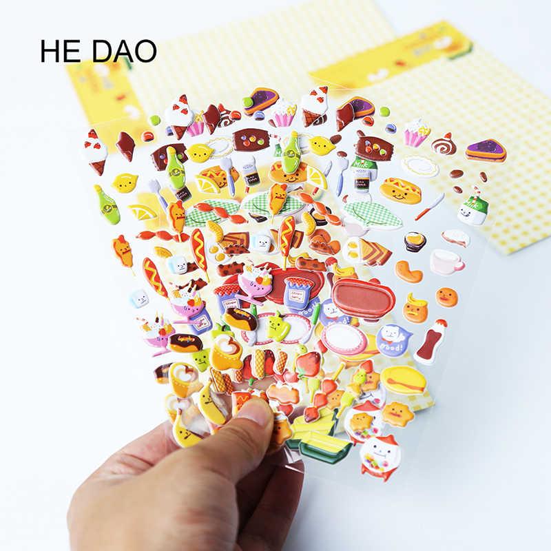 1 MÁY TÍNH Đáng Yêu Miếng Dán chiều 3D hoạt hình PVC Bong Bóng dán bé gái và bé trai sinh nhật quà tặng dễ thương trẻ em Đồ chơi ngẫu nhiên