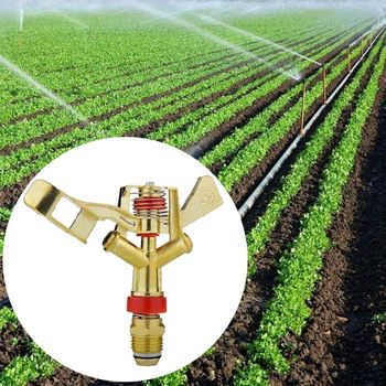 цена на 360 Degree Rotating Watering Dripper Sprinkler 3/4'' Farm Irrigation Garden Spray Nozzle Brass Rocker Emitter
