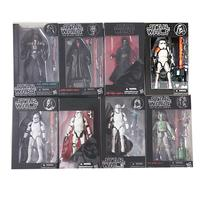 12 Types Star Wars The Black Series Boba Kylo Phasma Darth Maul Darth Vader Hab Solo PVC Action Figure Model Toy Doll Gifts