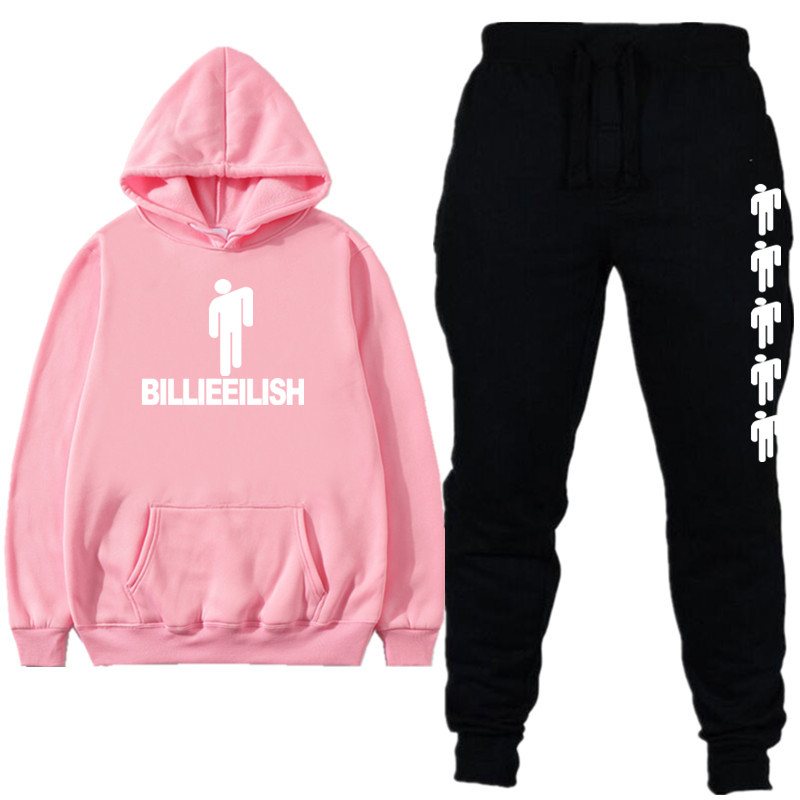New  Billie Eilish Sport Suit  Fashion Brand Hooded Men Women Casual Autumn Winter Warm Sweatshirts Men's Casual Street Clothing