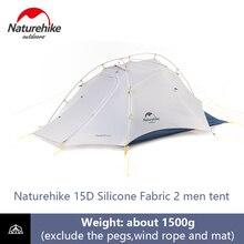 Naturehike Ultralight אוהל 2 גברים קמפינג 15D שכבה כפולה עמיד למים כיפת אוהל 4 עונה חיצוני נייד תרמילאים אוהל