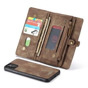 Image 5 - Custodia in pelle Vintage per iPhone 12 11 Pro Max X XR 6 6s 8 7 Plus custodia a portafoglio magnetica per iPhone SE 2020 XS Max Flip Case
