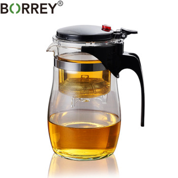 BORREY Borosilicate Glass Teapot Heat Resistant Glass Teapot With Tea Infuser Filter Puer Kettle 500Ml Kung Fu Tea Flower Teapot цена 2017