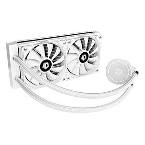 Refrigerador de água da cpu 120mm 4 pinos prático clássico textura multi-funcional sistema de refrigeração silencioso ventilador para lga 2011/am3 +/am4