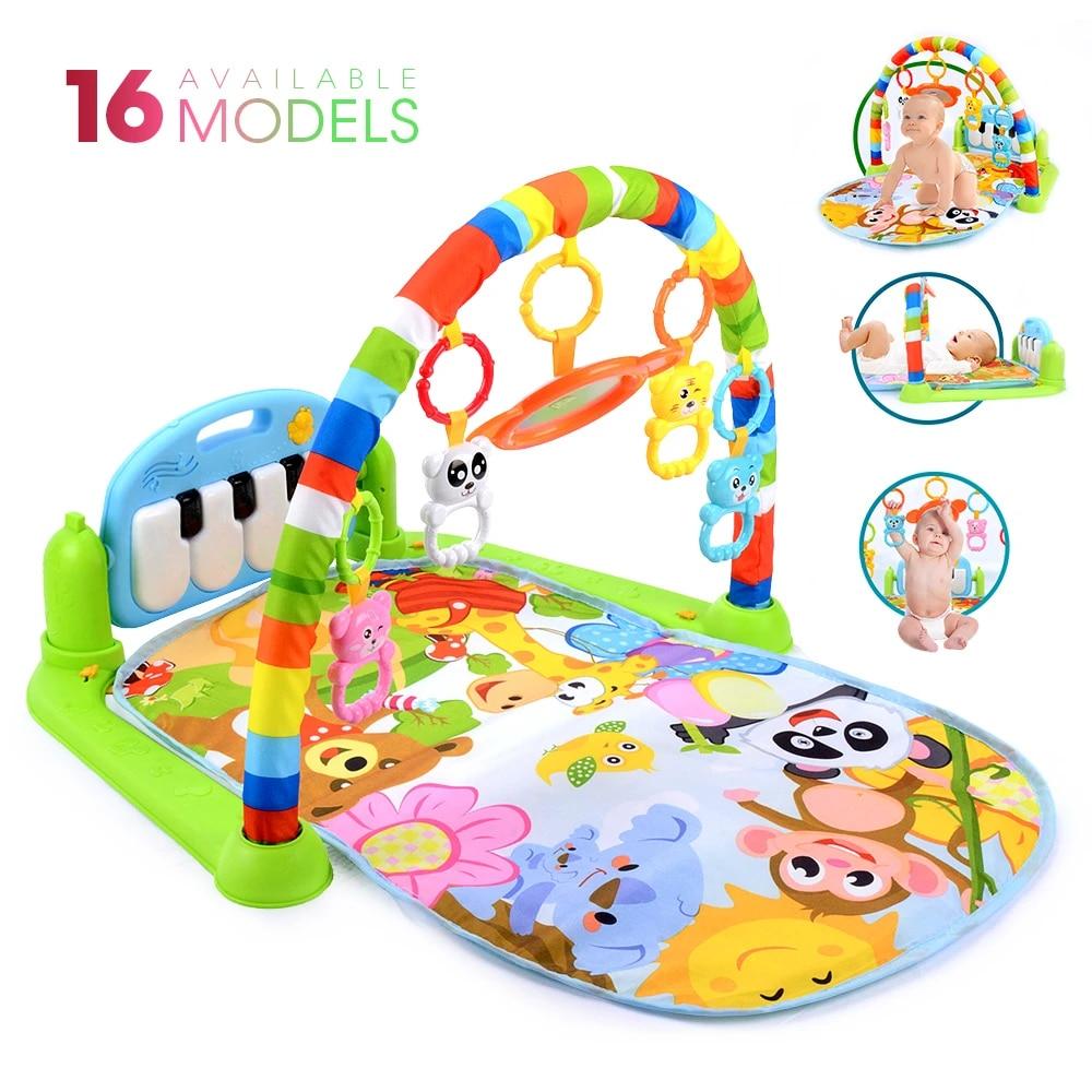 tapis d eveil pour bebe avec 16 fonctions piano gymnastique sonore jouet d amusement puzzle stimulation des tout petits pour ramper