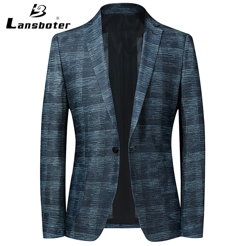 2020 Spring And Summer Thin Casual Suit Men's Mesh Viscose Breathable Slim Fit Korean-style Small Suit Men Spring Quick-Dry Suit