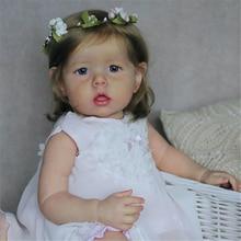 Rsg 28 polegadas diy kit boneca em branco renascer bebê realista bebe bonito liam vinil silicone unpainted inacabado peças boneca