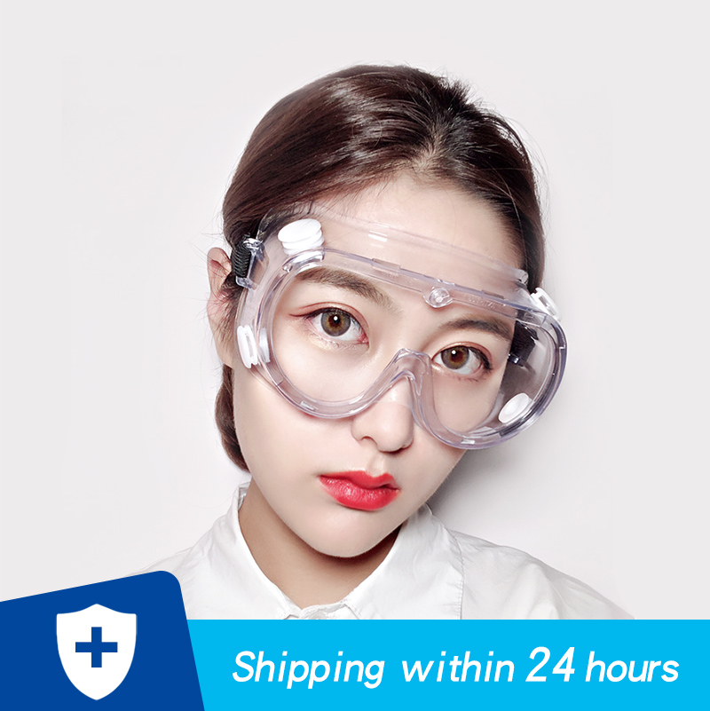 Protective Safety Glasses Clear Work Anti Dust Anti-Fog Antisand Windproof Anti Dust Saliva Transparent Goggles Anti Pollution