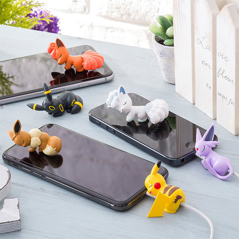 Cute Cool Stuff Anime Pokemoner Cable Protector Protege Cable For Iphone Cartoon Cable Charging Cord Buddies Hold Accessory