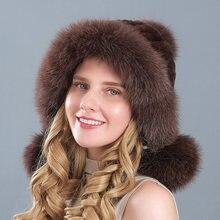 Зимние шапки из натурального меха норки для женщин меховые с