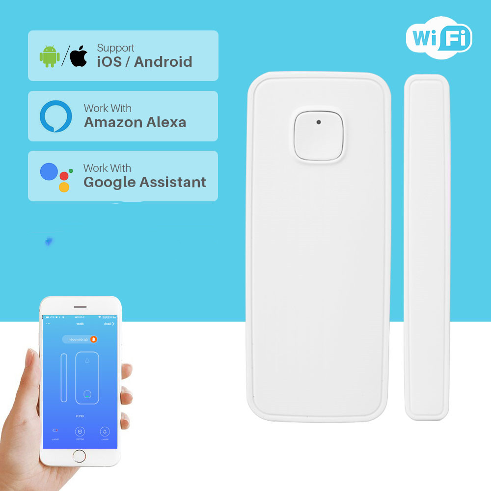 WIFI Door Sensor Tuya APP Control Door Security Alarm Wireless Window Door Detector For Smart Home Alexa Google Home